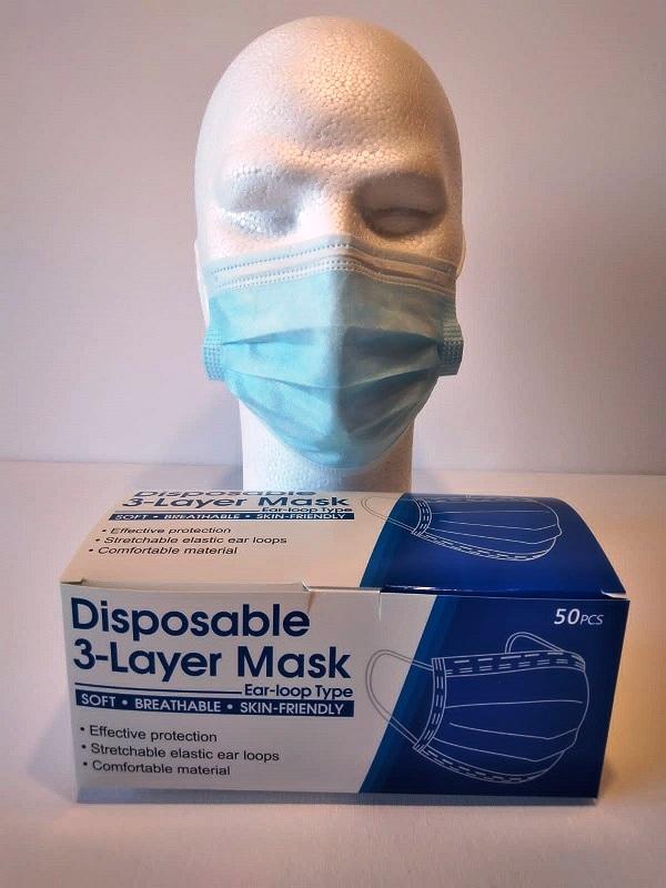 50 Masques Bleu 3plis