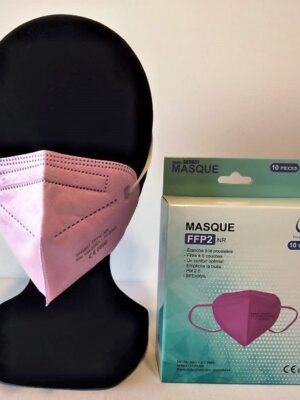10 masque ffp2 rose