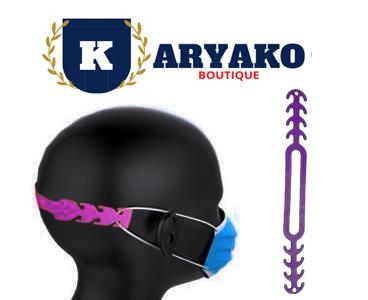 Crochet D'extension D'oreille De Masque Réglable violet