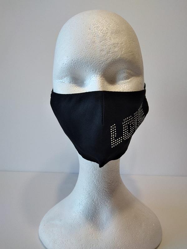 Masque Love tissu