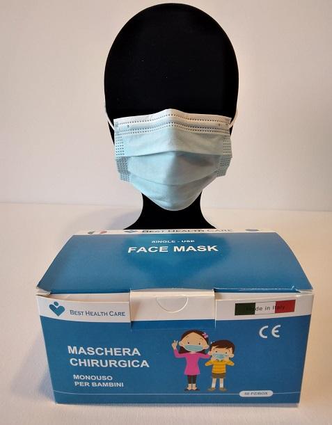 Masque churirgical medical bleu pour enfant